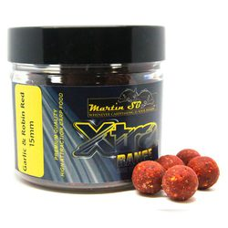 Бойлы тонущие Martin SB XTRA Boilies Garlic & Robin Red 15mm/200g