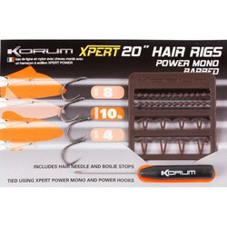 Поводок KORUM XPERT POWER MONO HAIR RIG BARBED 4 шт. №8