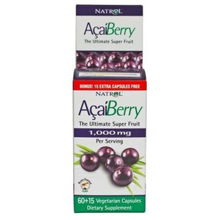 Антиоксидант Natrol Acai Berry 1000mg (60 капсул)