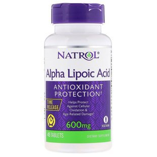 Антиоксидант Natrol Alpha Lipoic Acid 600 mg Time Release (45 таблеток)