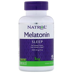 Мелатонин Natrol Melatonin 3 mg (240 таблеток)