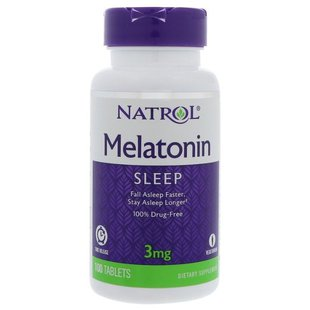 Мелатонин Natrol Melatonin 3 mg Time Release (100 таблеток)