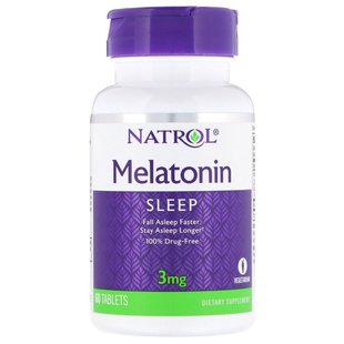 Мелатонин Natrol Melatonin 3 mg (60 таблеток)