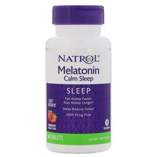 Мелатонин Natrol Melatonin Calm Sleep Fast Dissolve (60 таблеток)