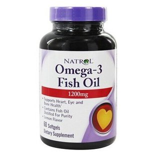 Рыбий жир Natrol Omega-3 Fish Oil 1200 mg (60 капсул)