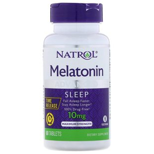 Мелатонин Natrol Melatonin Advanced Sleep 10 mg Time Release (60 капсул)