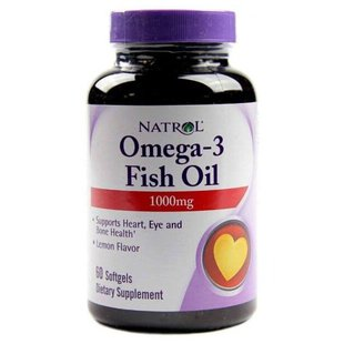 Рыбий жир Natrol Omega-3 Fish Oil 1000 mg (60 капсул)