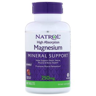 Минерал Natrol Magnesium High Absorption 250mg (60 таблеток)