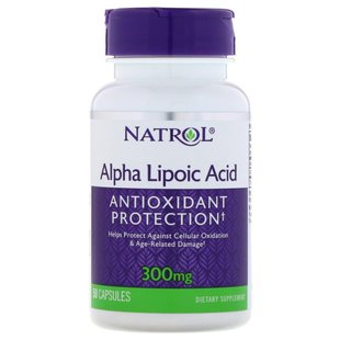 Антиоксидант Natrol Alpha Lipoic Acid 300 mg (50 капсул)