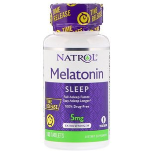 Мелатонин Natrol Melatonin 5 mg Time Release (100 таблеток)