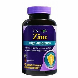 Natrol Zinc High Absorption 60 жев. таб